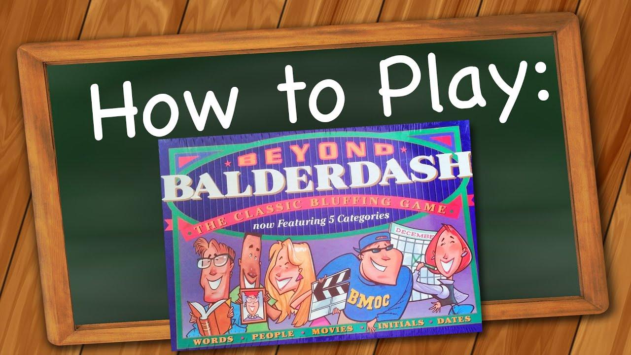 how to play beyond balderdash