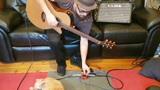 Boss RC1 Funk looping lesson. With added cat