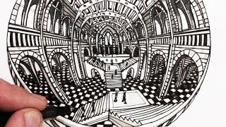 How to Draw Perspective: 5-Point Perspective Narrated