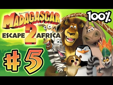 Madagascar Escape 2 Africa Walkthrough Part 5 (X360, PS3, PS2, Wii) 100% Level 5 - Rites of Passage