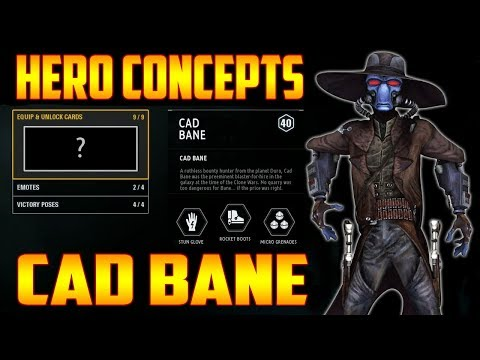 Cad Bane Hero Concept! Ability & Play Style Speculation - Star Wars Battlefront 2