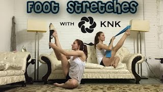 foot stretches with knk miami   arch stretcher and stretch band