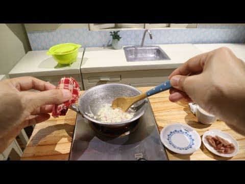Pinoy Style Spaghetti ( MINIATURE COOKING) (COOKING SOUNDS) ASMR