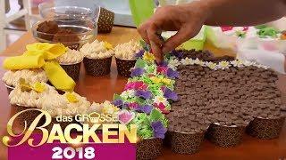 Pull apart Cupcakes: Leckere Muffin Kunstwerke | Aufgabe | Das große Backen 2018 | SAT.1 TV