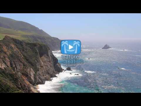 ENDLESS 4K SCENE: Sparkling Blue Ocean - California Coast 1 HR (UHD) Nature Relaxation Static Scene