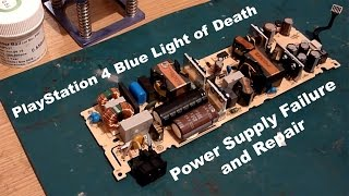 ps4 blue light of death blod adp 240ar psu transformer failure and repair
