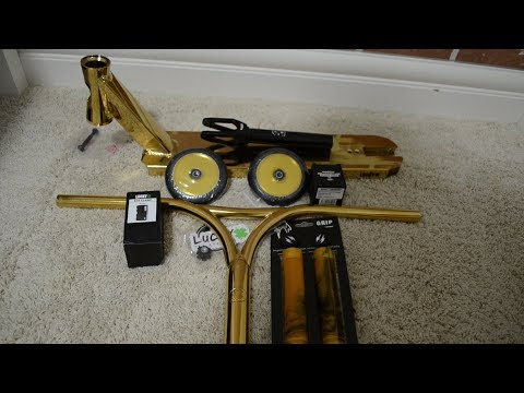 ALL GOLD LUCKY SCOOTER CUSTOM BUILD!