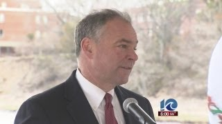 Sen. Tim Kaine addresses sequestration at Newport News Shipbuilding