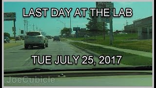 Last day at the lab - Tue July 25, 2017