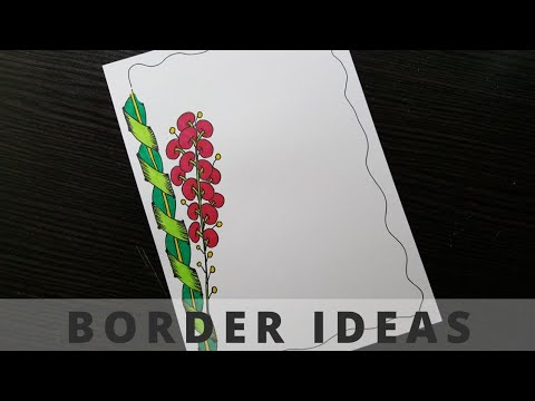 How to make easy page border | designs for assignment | school projects