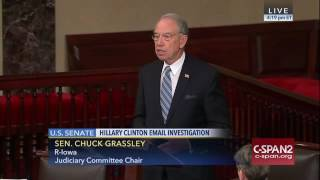 Grassley Addresses the FBI's Refusal to Release Unclassified Clinton Investigation Files