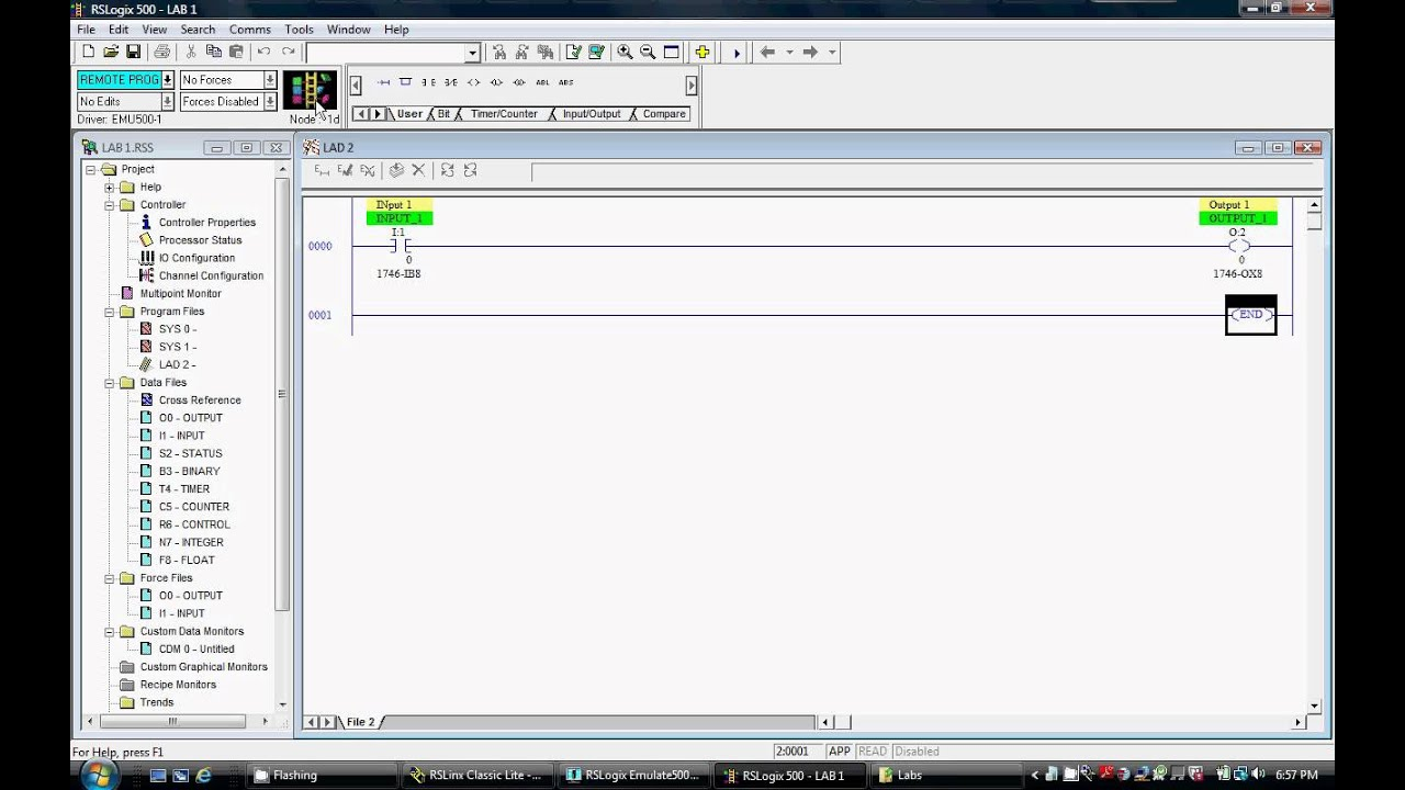 Rslogix 500 Basic Programming Discrete Ladder Eleme Doovi