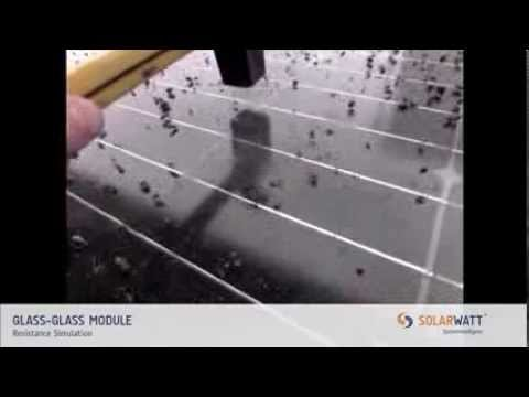 solarwatt qualit t glas glas module youtube. Black Bedroom Furniture Sets. Home Design Ideas