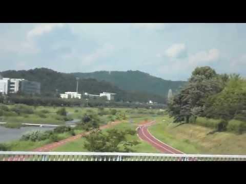 Express Bus from Jeonju to Daejeon . 전주(全州)에서 대전(大田)가는 고속버스. 대전시. 大田市. KOREA.