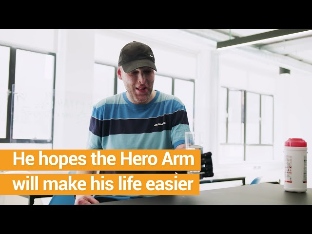 Leom gets Hero Arm after house fire left him with life changing injuries