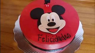 Mickey Mouse 2D en fondant!