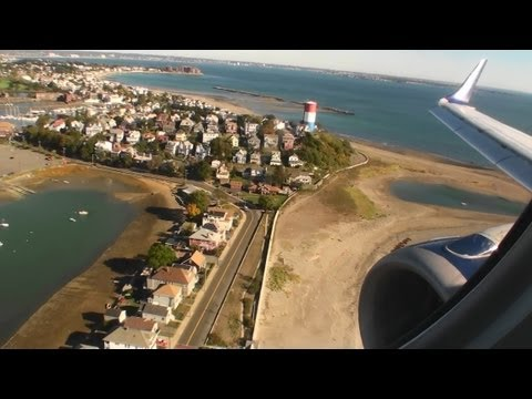 Welcome to Boston!!!  Gorgeous HD Embraer E-190 Landing Into Logan International Airport!!!