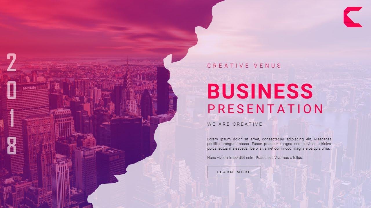 how to design a super creative  u0026 unique business slide in