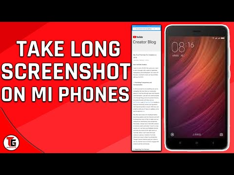 How to take long screenshot in redmi note 4 in hindi