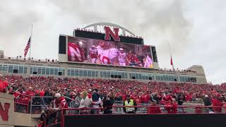 2018 Nebraska Spring Game Tunnel Walk