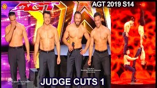 Messoudi Brothers with THEIR DAD acrobats UNBELIEVABLE | America's Got Talent 2019 Judge Cuts