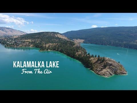 kalamalka-lake-from-the-air- -vernon-bc- -okanagan-valley-british-columbia