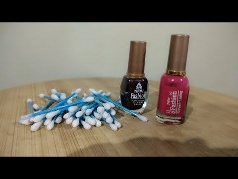 Best Use Of Waste Nail polish and Cotton Buds/creative art/DIY Art and Craft / Diy Handmade nails