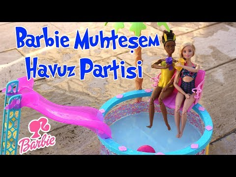 Barbie Muhteşem Havuz Partisi | Barbie İçin Yeni Havuz Açtım Dikişsiz Mayo Yaptım | Bidünya Oyuncak