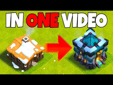 GEM TO MAX! Town Hall 1 To 13! Clash Of Clans Gem Rush!