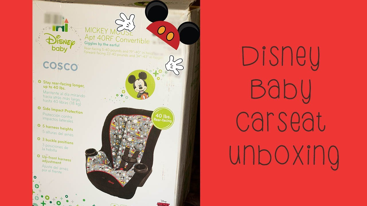 Disney Baby Mickey Mouse APT 40RF car seat - YouTube