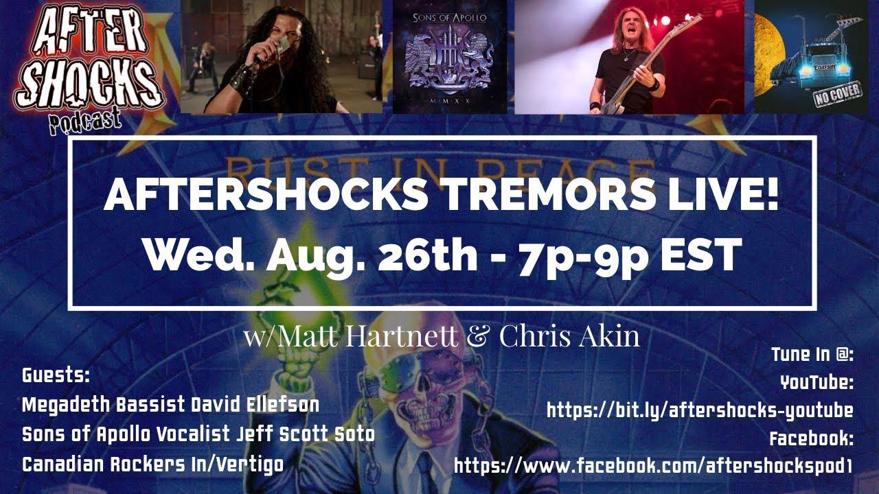 Aftershocks Tremors LIVE  4 with David Ellefson  Jeff Scott Soto and In Vertigo