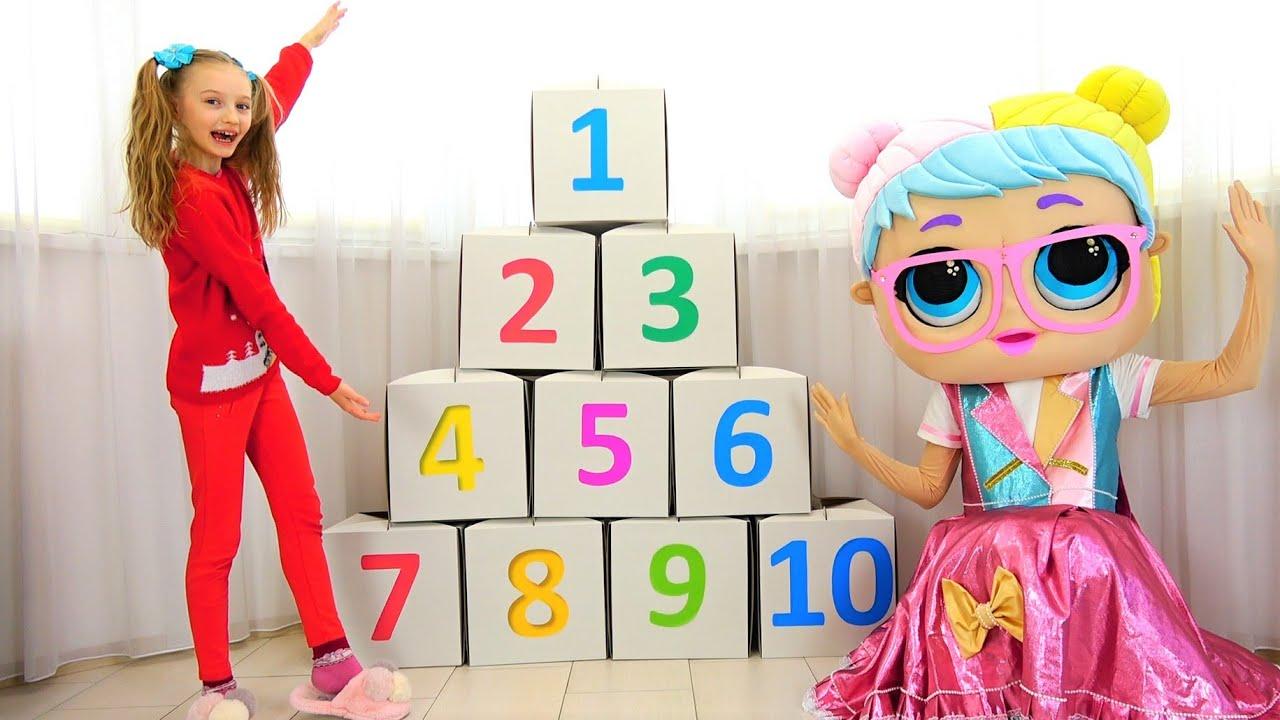 Полина учит цифры от 1 до 10