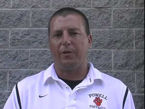 Powell High School football coach Matt Lowe on the 2010 ...