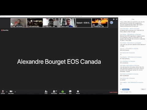EOS Block Producer Call - July 19