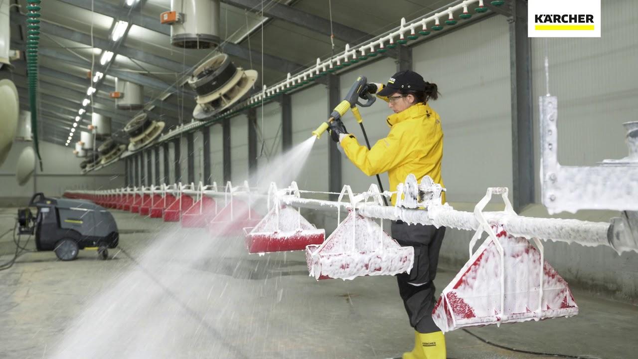 Kärcher soluciones de limpieza sector avícola - Limpiadora de alta presión  - YouTube