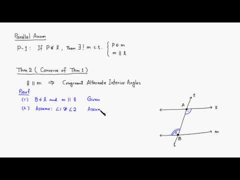 MTH 530 Converse of Parallelism in Absolute Geometry