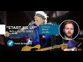 Start Me Up - The Rolling Stones  (AULA GRATUITA DE GUITARRA) - Cordas e Música