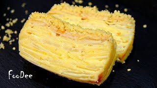 Видите ТЕСТО? При выпечке оно превращается в КРЕМ! Пирог Невидимка с яблоками и грушами