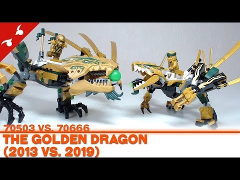 Comparons lego ninjago the golden dragon 2013 vs 2019 fr youtube - Ninjago dragon d or ...