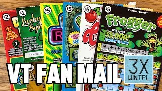 VT Fan Mail! **WINS** WILD CHERRIES, GREAT 8S + MORE! ✦ Vermont Lottery Scratchers thumbnail