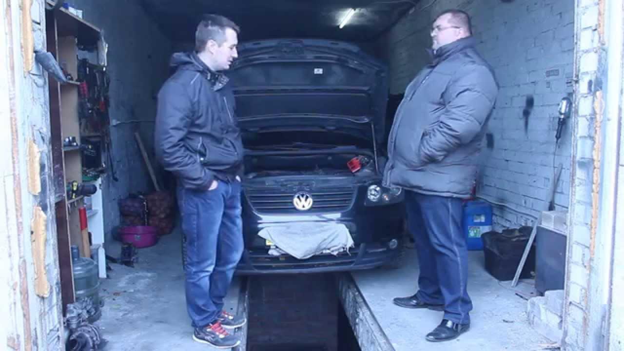 Установка 6МКПП на VW CADDY 1.9 BLS