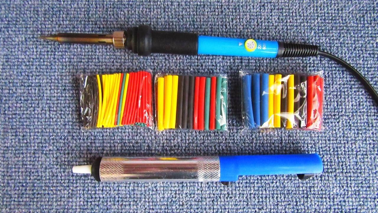 Купить паяльник по лучшей цене. Набор для пайки zd-972b включает паяльник 220v 30 вт, оловоотсос (экстрактор припоя), подставку, припой 10 г и.