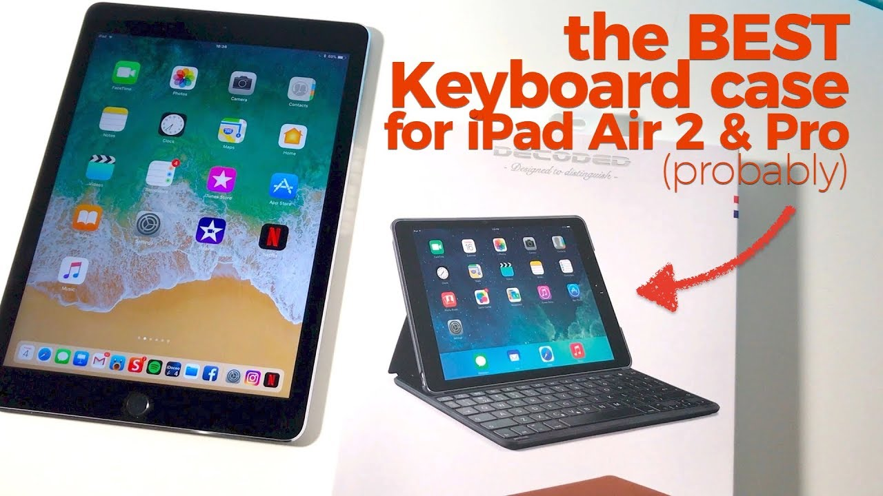 new arrival b7b81 e57fd The best keyboard case for iPad Air 2 & iPad Pro? (Review of DECODED's  leather keyboard case)