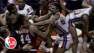 Charles Barkley brawls with Bill Laimbeer in epic 1990 Pistons vs. Sixers fight | ESPN Archives