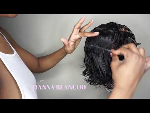 DIY Fingerwaves On Short Wig | Tiannablancoo