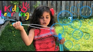 Learn colors with bubbles for kids! fun video