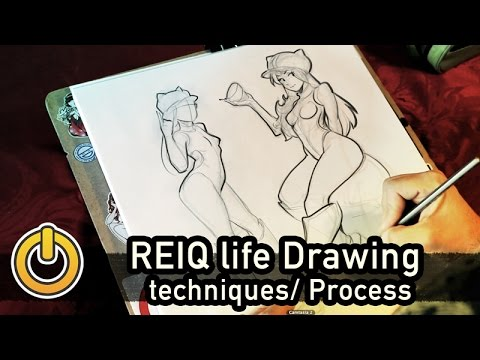 Character Creation Through Life Drawing Techniques