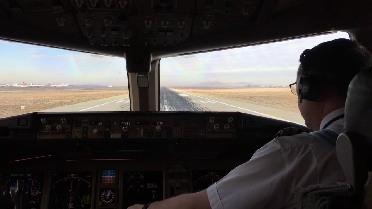 British Airways Boeing 777 200 Cockpit View Takeoff From Tehran Khomeini International