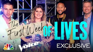 Download The First Week of Lives for Teams Kelly, Nick, Legend and Blake - The Voice Lives 2021