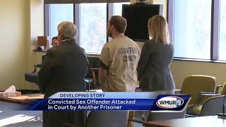 Convicted sex offender attacked by prisoner in courtroom